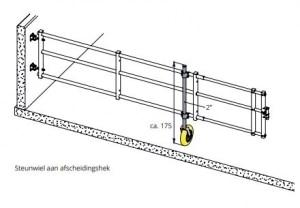 Variabel hekwerk met steunwiel | Schrijver Stalinrichting